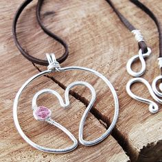 wire heart in circle