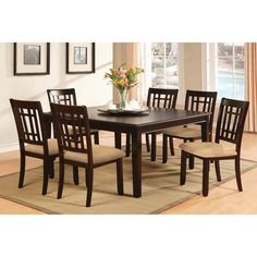 Furniture of America Valitie 7-piece Rectangular Table Dinette Set