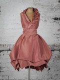 Dusky Pink Ruffle Trench Dress | Blonde And Wise