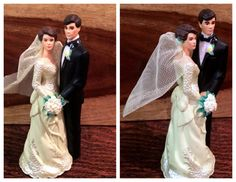 1950s Vintage Wedding Cake Topper only $24!