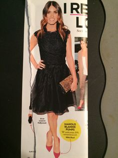 hey that's my clutch! with awesome black dress + nails