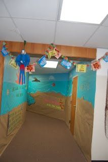 Clutter-Free Classroom: Beach / Ocean Themed Classroom  This link has a great list of clever beachy names for centers