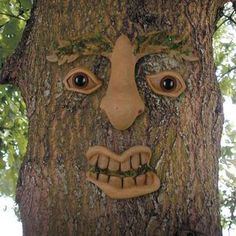 Tree faces are becoming a unique accent in landscaping these days. Adorn your property with a few of them you can create a virtual woods of forest faces. Abstract Sculpture, Wood Sculpture, Garden Sculpture, Metal Sculptures, Bronze Sculpture, Garden Deco, Garden Art, Tree Faces, Face Pictures