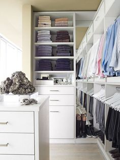 organized men's closet