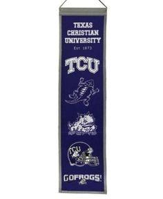 Winning Streak Texas Christian Horned Frogs Heritage Banner - Purple