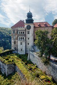 The Renaissance castle of Pieskowa Skała near Sułoszowa, Poland