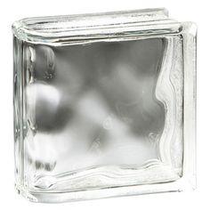 Pittsburgh Corning Endblock Decora Premiere Series Bullnose Glass Block (Common: x x Actual: x x Glass Block Shower, Glass Blocks Wall, Master Shower, Pittsburgh, Lowes Home Improvements, Series 4, Basement Ideas, Bathroom, Spaces