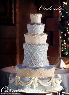 This is another of my favorite cakes... I love the SHAPE of each layer. I feel that this is a perfectly shaped cake! I can see it done in any number of colors for any occasion!  I would LOVE to do a cake like this!