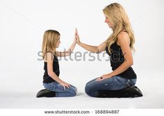 A mother and daughter pose in a studio environment by Action Sports Photography, via Shutterstock Toddler Girl Photography, Children Photography Poses, Mother Daughter Photography, Sister Photography, Mommy Daughter Pictures, Mother Daughter Pictures, Family Posing, Family Portraits, Mommy And Me Photo Shoot