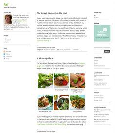 WordPress Theme ari Green Kitchen, Wordpress Theme, Plates, Licence Plates, Dishes, Plate, Dish