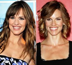 You'll definitely take a double take when you see how similar  these celebs are in appearance. Jennifer Garner and Hilary Swank