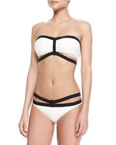 8ef6a95eef619 Massai Glamour Bandeau Swim Top & Strappy Bottom by Carmen Marc Valvo at  Bergdorf Goodman.