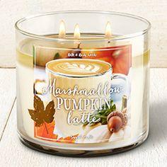 Marshmallow Pumpkin Latte 3-Wick Candle - Home Fragrance 1037181 - Bath &…