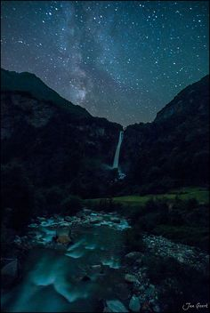 Milky Way Falls by Jan Geerk on 500px. Tessin, Switzerland.