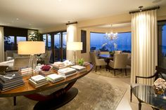 La Jolla Luxury Home Family Room Robeson Design
