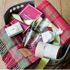 Gift Basket ideas - tons! Love the Get Lost basket for our long weekend away!