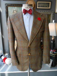 GEOFFREY BEENE 40R belt back jacket blazer by RichardsFabulousFind, $195.00