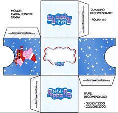 Peppa Pig en Navidad: Cajas para Imprimir Gratis. | Ideas y material gratis para fiestas y celebraciones Oh My Fiesta!