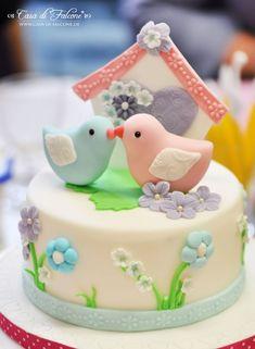 Spring lovebirds Cake