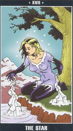 XVII. The Star - Fradella Adventure Tarot by Frank Fradella, J P Dupras
