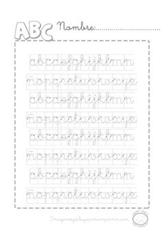 Caligrafia de abecedario para imprimir para niños pequeños