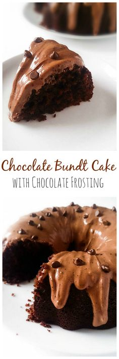 Chocolate Bundt Cake with Chocolate Cream Cheese Frosting | Marsha's Baking Addiction