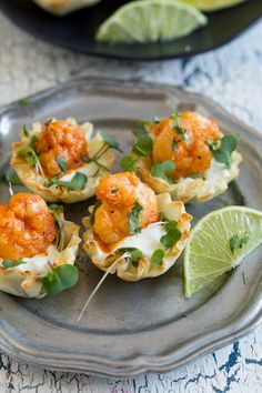 These tequila lime shrimp phyllo cups are the perfect bite size appetizer. Slightly spicy but with a dollop of cooling lime sour cream sauce. So easy.