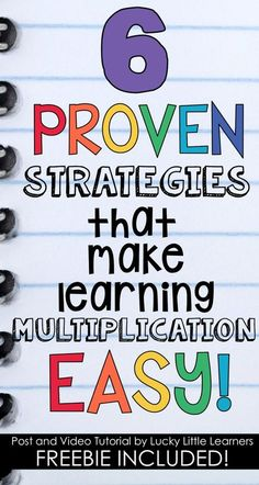 Multiplication Strategies - Lucky Little Learners Multiplication Activities, Math Activities, Math Fractions, Memorizing Multiplication Facts, 4th Grade Multiplication, Math Strategies, Math Resources, Math Sites, Math For Kids