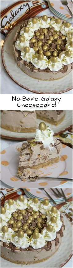 No-Bake Galaxy Cheesecake! ❤️ A Creamy, Chocolatey, Sweet, and delicious No-Bake Galaxy Cheesecake using Galaxy Golden Eggs. Perfect non-bake for Easter, or for any time of the year!