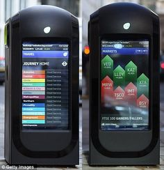 per le strade di Londra i bidoni intelligenti con doppio LCD