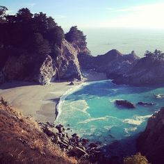 #Roadtrip along #PCH with #ANINEBING / McWay Waterfall Big Sur California. Hwy 1.