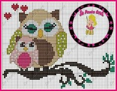 16 Sensational Inspiring ideas For Cross Stitch Owl, Butterfly Cross Stitch, Cross Stitch Alphabet, Cross Stitch Animals, Cross Stitch Charts, Cross Stitching, Disney Cross Stitch Patterns, Counted Cross Stitch Patterns, Cross Stitch Embroidery