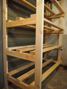 DIY Furniture Building Storage Bin Racks in the Basement Selecting area rugs for your home or office Cheap Storage Shelves, Attic Storage, Built In Storage, Rolling Storage, Storage Racks, Garage Storage, Storage Bin Organization, Workshop Organization, Storage Room