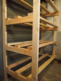 Building Storage Bin Racks in the Basement