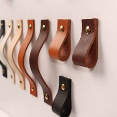 home accessories Leather products - Tanned Leather Door Handles For Cabinet Wardrobe Cupboard Drawer Pull Furniture Hardware Kitchen Accessories Cupboard Drawers, Kitchen Cabinet Handles, Drawer Handles, Diy Leather Drawer Pulls, Leather Handle, Tan Leather, Leather Art, Leather Crafts, Black Door Handles