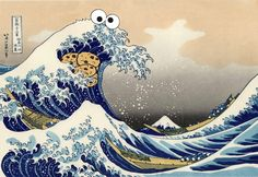 The Great Wave off Kanagawa + the Cookie Monster = Sea is for Cookie