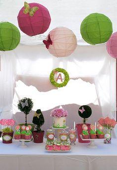 Ideas Diy Garden Party Decorations Paper Lanterns For 2019 Garden Birthday, Fairy Birthday Party, 2nd Birthday Parties, Girl Birthday, Birthday Ideas, Theme Parties, Birthday Cake, Butterfly Party, Butterfly Birthday