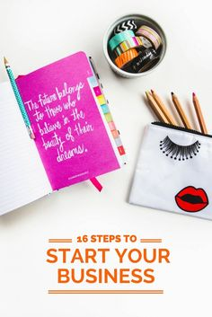 Start your business in 16 steps. Small business tips, entrepreneur, Start your business in 16 steps. Small business tips, entrepreneur, New Business Ideas, Craft Business, Business Advice, Business Planning, Creative Business, Business Opportunities, Bakery Business, Business Essentials, Career Advice