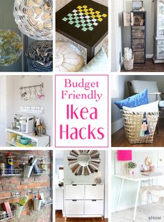 Ikea Hacks that'll save you money while also improving your home decor in just a few quick steps! These hacks are a MUST for all rooms - big or small. You'll be so glad you pinned this: http://www.ehow.com/how_12342969_budgetfriendly-ikea-hacks-home-needs-right-now.html?utm_source=pinterest.com&utm_medium=referral&utm_content=curated&utm_campaign=fanpage