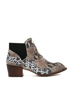 Enlarge KG by Kurt Geiger Snake Print Ankle Boots.       Oh Wow, Awesome!