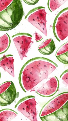 background, fruits, red, tumblr, wallpaper WATERMELON