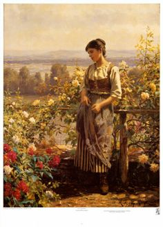 Ray of Sunshine Posters por Daniel Ridgway Knight na AllPosters.com.br