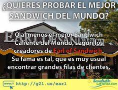 Earl of Sandwich trae a los visitantes de la Florida uno de los mejores sándwiches del mundo o al menos eso dicen sus creadores y lo confirman las largas filas que se forman en sus locaciones como la de Walt Disney World ==> http://g2l.us/earl