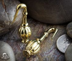 Brass Poppy weights