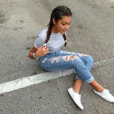 Image about girl in style 💯 by maya on We Heart It - Outfit Ideen Fashion Moda, Look Fashion, Fashion Outfits, Womens Fashion, Fashion Trends, Hipster Fashion, 90s Fashion, Girl Fashion, Preteen Fashion