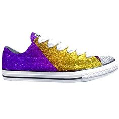 Women's Converse All Star Glitter Sneakers Team Spirit Football Sports Shoes Purple Gold Gold Glitter Shoes, Glitter Converse, Glitter Girl, Converse All Star, Women's Converse, White Glitter, Lila Gold, Purple Gold, High Top Sneakers
