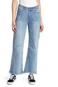 Image of Cheap Monday A-Line Frayed Hem Jeans