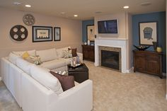 Pulte Homes, Hidden Bluffs in West Bloomington. Dream House Plans, My Dream Home, Basement Movie Room, Pulte Homes, Home Board, New Home Builders, Dream Decor, Home Living Room, Innovation Design