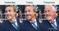 Just playing around with the FaceApp 😂😂😂❤️ Jerome Flynn, Crocodile Dundee, Yesterday And Today, Blue Eyes, Piercing, Mirrored Sunglasses, Piercings, Body Piercings