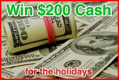 Christmas Cash Giveaway | Ends 11/22/12